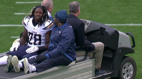Melvin Gordon carted off with hip injury