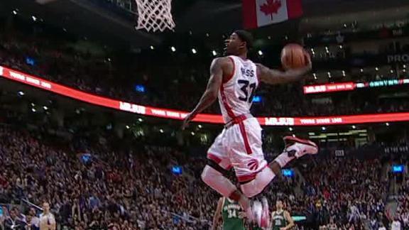 Terrence ross fails at wide open windmill dunk espn video espn
