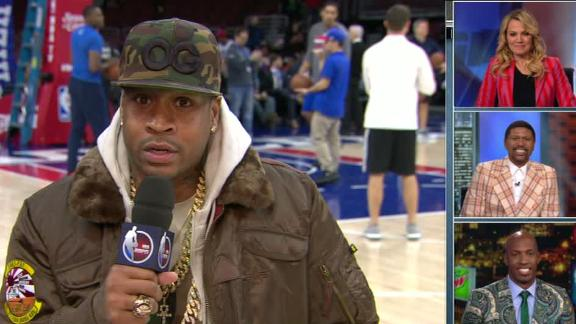 Iverson can't believe the fashion he's seeing in NBA