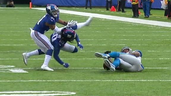 Janoris Jenkins leaves game after collision