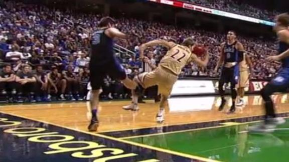 Grayson Allen gets a tech for tripping again