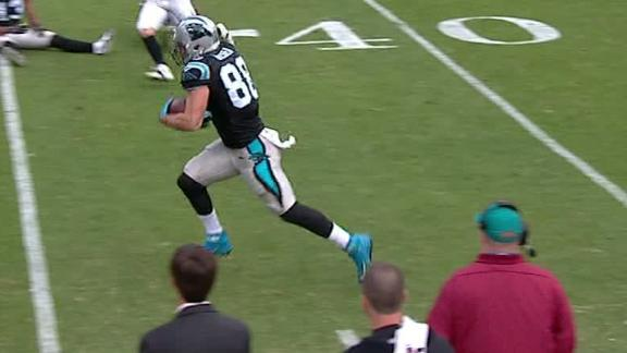 Olsen makes NFL history with 17-yard catch