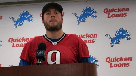 Stafford's focus Sunday will be strictly on the Lions