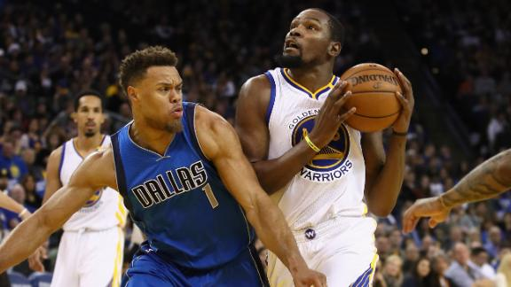 Durant posts first triple-double with Warriors in win