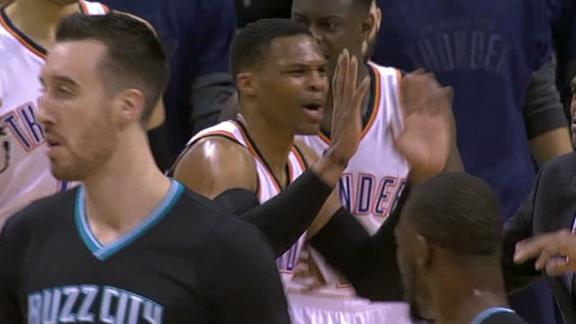 Westbrook gets tech for throwing ball at ref in loss