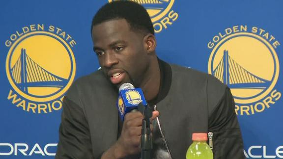 Draymond 'thrilled' Warriors lost