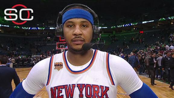 Carmelo: Knicks have to build off comeback win