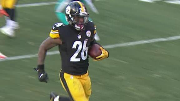 Bell sets Steelers single-game postseason rushing mark on TD