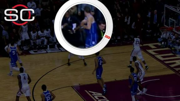 Grayson Allen appears to shove FSU assistant