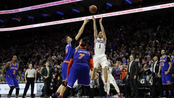 76ers slip by Knicks on McConell's game winner
