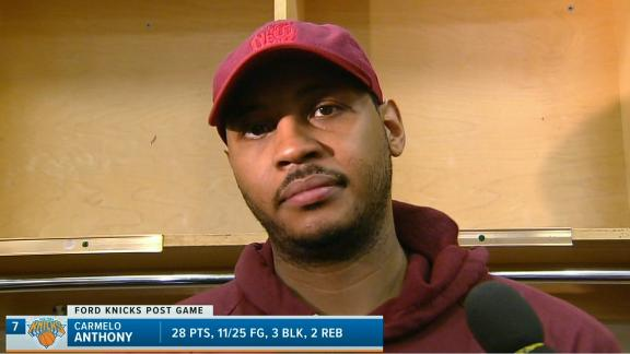 Carmelo, Porzingis disappointed in loss
