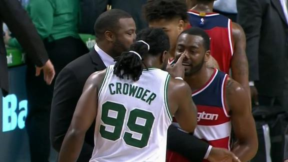 Wall slaps Crowder during postgame altercation