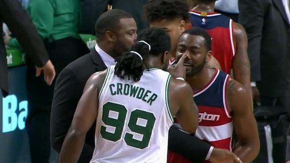 Wall slaps Crowder during postgame altercation