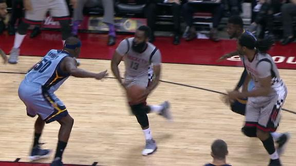 Grizzlies get best of Harden, Rockets