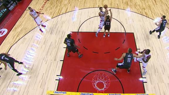 DeRozan somehow gets this shot to fall