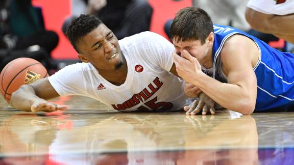 Grayson Allen falls hard in loss