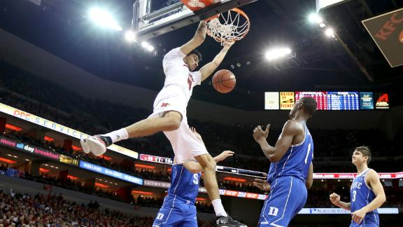 High flying and power dunks from Saturday's college basketball