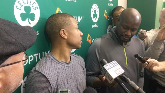 Boston Celtics point guard Isaiah Thomas sounds off after being asked about