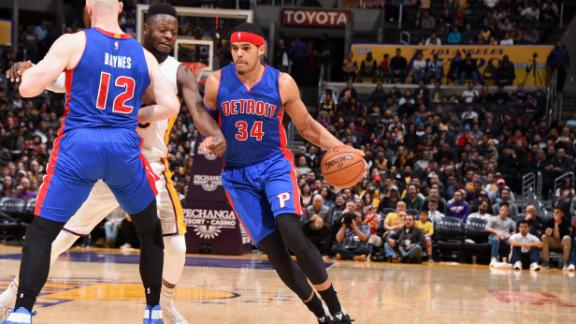 Pistons hold off Lakers in back-and-forth tilt