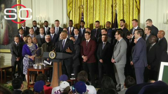 Cubs' day at the White House filled with laughs