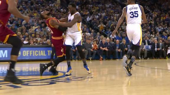 Warriors' Green gets flagrant for hit on LeBron
