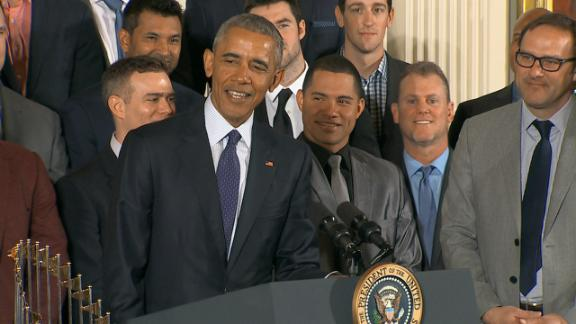 Obama welcomes World Series champion Chicago Cubs