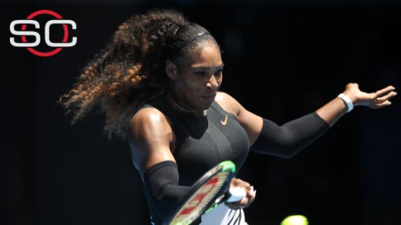 Serena wins in straight sets to advance at Australian Open