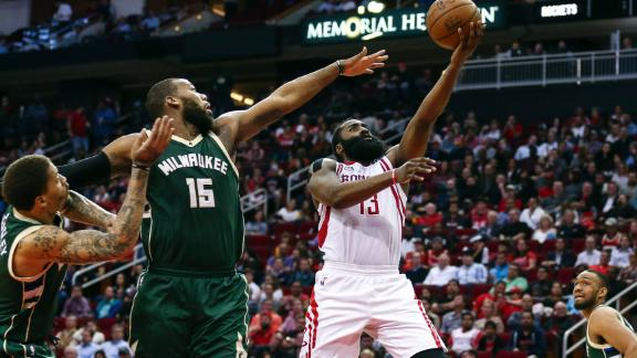Harden and the Rockets roll past Bucks