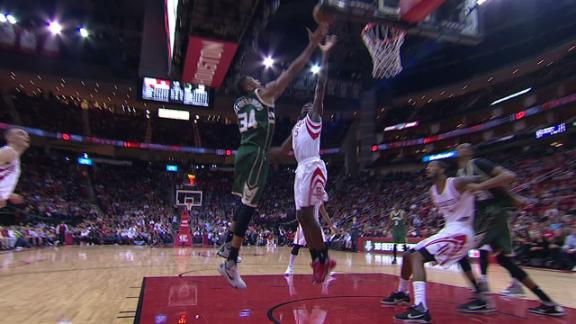 Greek Freak spins his way in for a nice finish