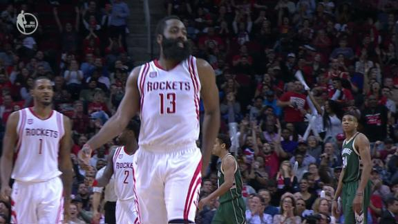 Milwaukee can't keep up with Harden, Houston