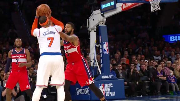 Melo sets franchise record with 25-point quarter
