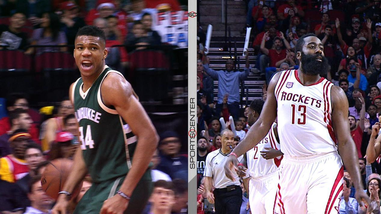 Harden, Antetokounmpo put on a show against each other