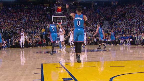 Westbrook forgets he has to dribble