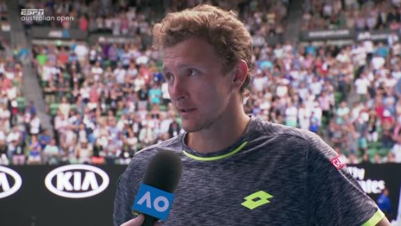 Istomin: 'I feel sorry for Novak, I was playing so good today'