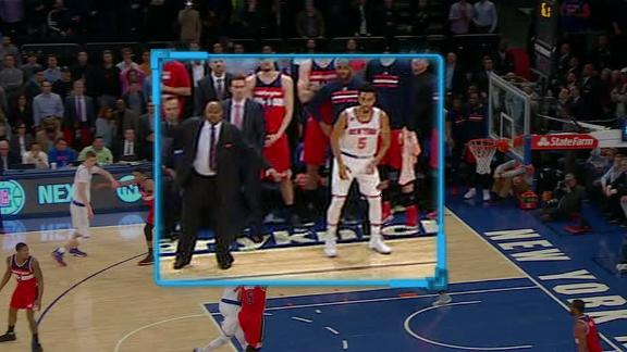 Knicks botch final play when Wizards assistant steps on court