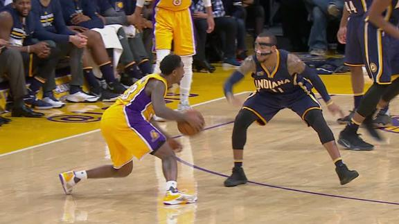 Lakers snap five-game slide, cruise past Pacers
