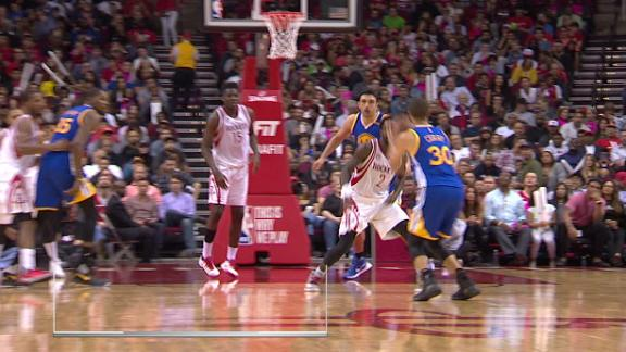 Warriors waltz into rowdy Houston and throttle Rockets