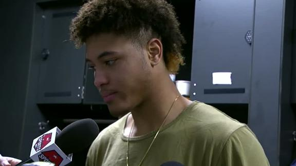 Oubre, Wizards wearing all black to C's game