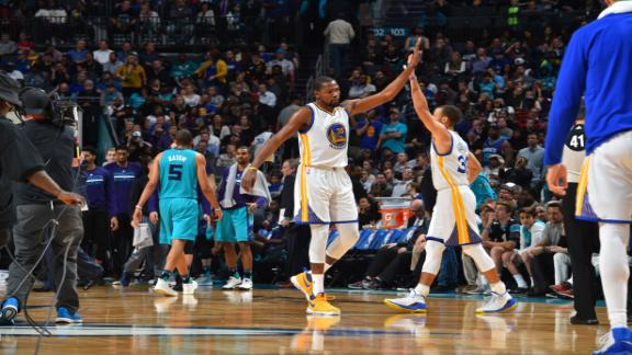 KD, Curry take over in 4th quarter, Warriors prevail