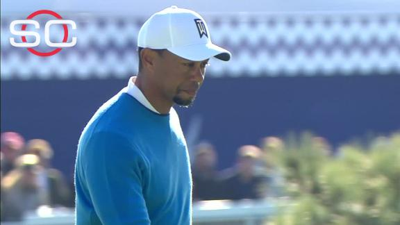 Tiger stumbles on back nine, finishes with 76