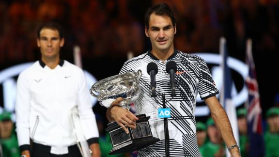 Federer rallies past Nadal in fifth set to win Australian Open