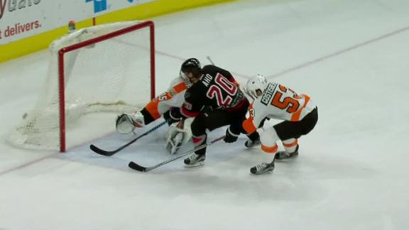 Aho nets hat trick in Hurricanes' rout