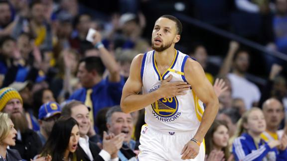 Curry's night from deep... 11 3-pointers