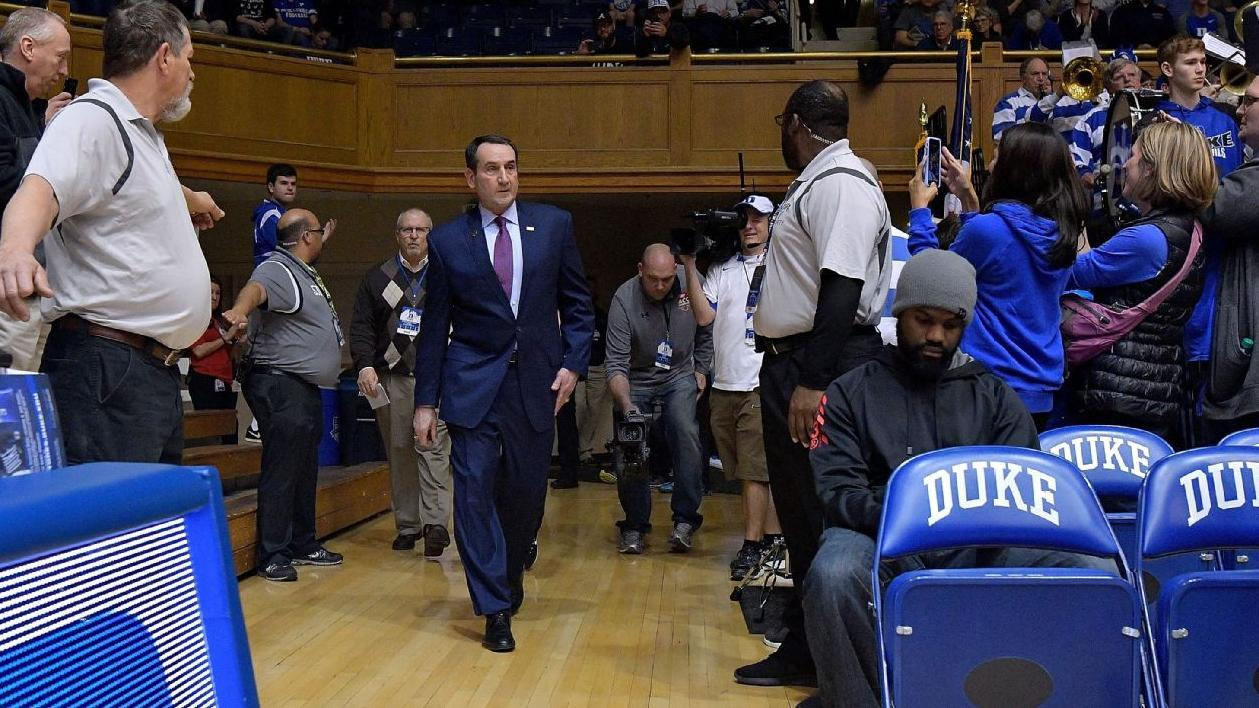 Coach K's return provides 'warm up' before big North Carolina game