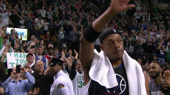 TD Garden comes to its feet to pay tribute to Pierce