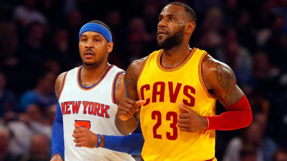 LeBron pushing for trade to get Carmelo