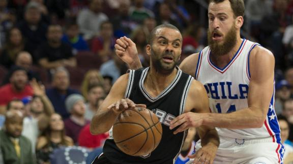 Spurs fight off 76ers 111-103