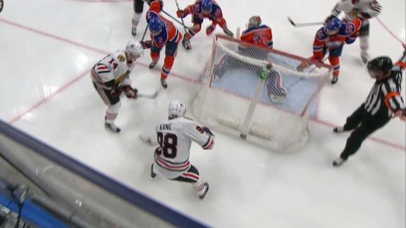 McDavid's effort sets up goal, but Kane gets winner on bank shot