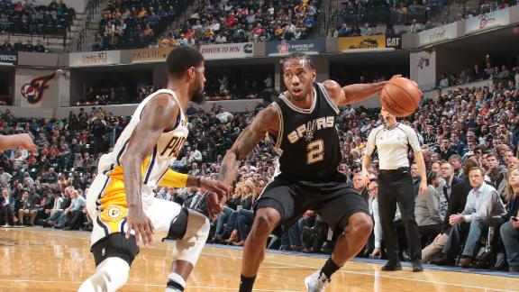 Leonard's 32 points leads Spurs past Pacers