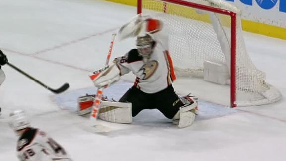 Cramarossa's goal, Gibson's heroics leads Ducks to win